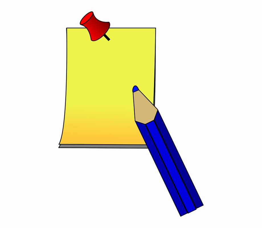 And paper post it. Clipart pen down