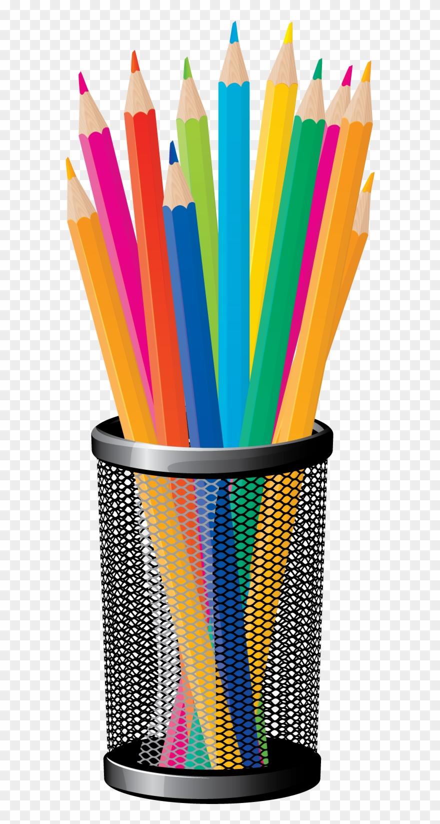 Transparent background colored . Clipart pencil education
