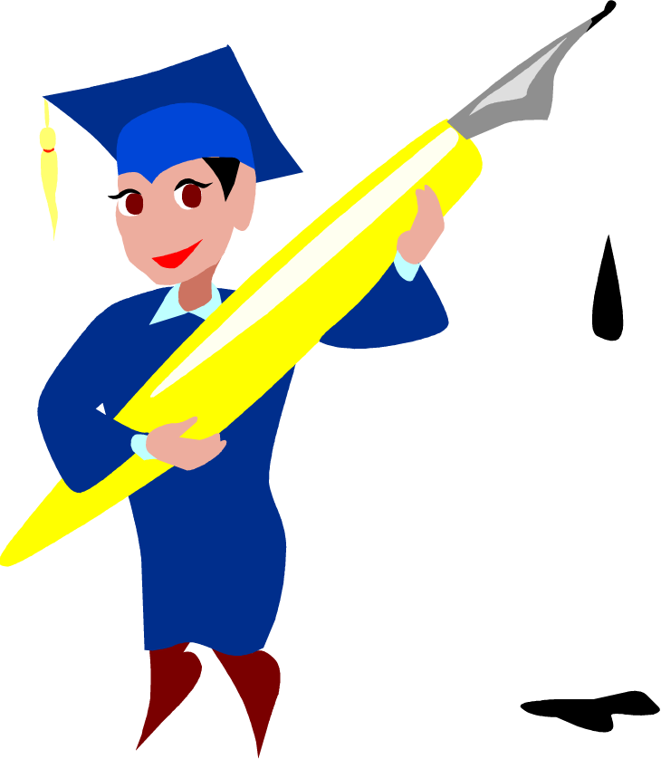 Free cartoon with man. Clipart people graduation