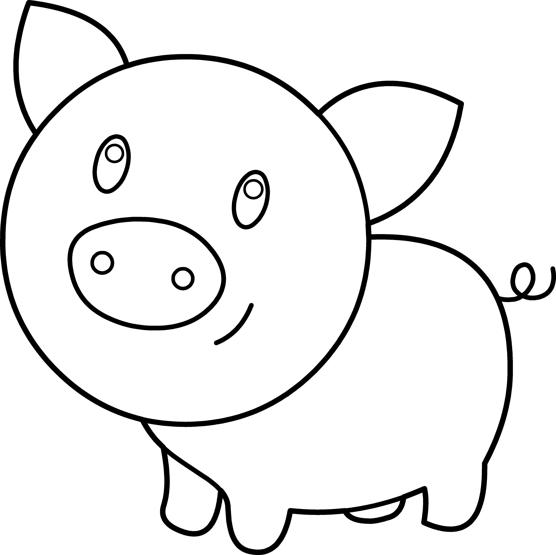 Clipart pig cop. Cute face clip art