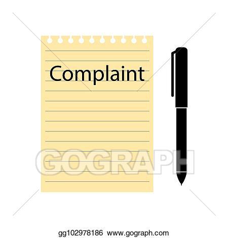 Clipart pen form. Vector art complaint and
