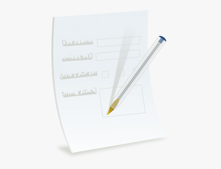 Clipart pen form. Ballpoint paper