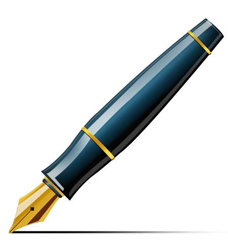 Clipart pen fountain pen. Free fancy cliparts download