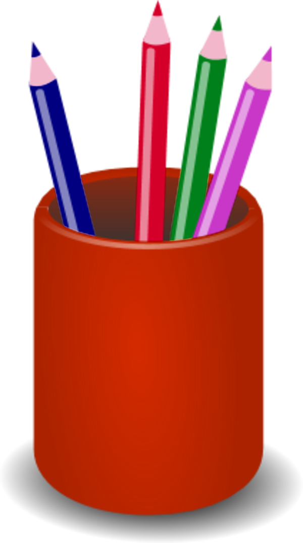 Pen holder free collection. Clipart pencil container