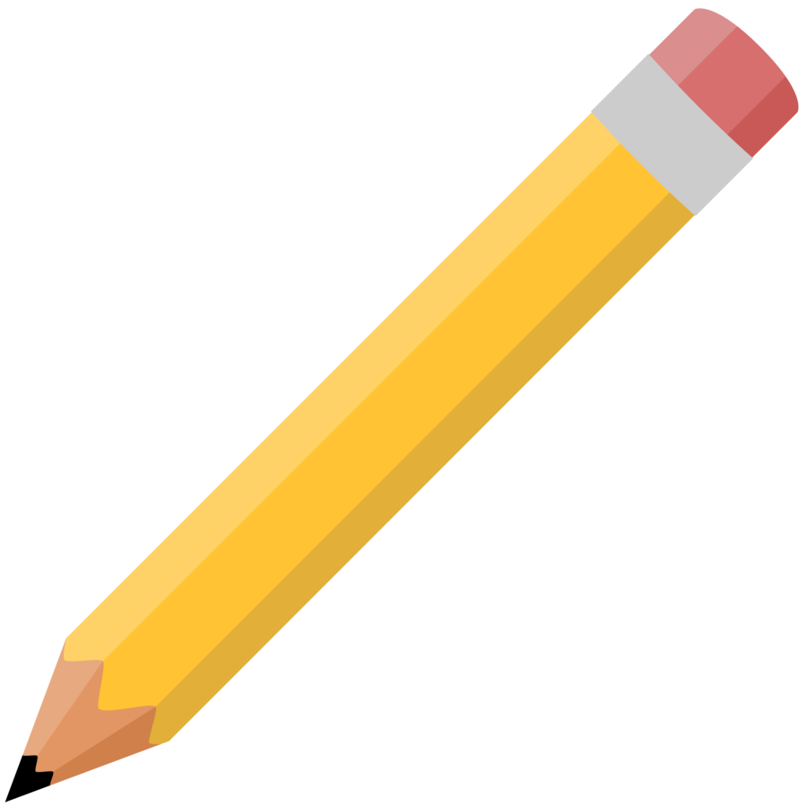 A or l piz. One clipart colored pencil