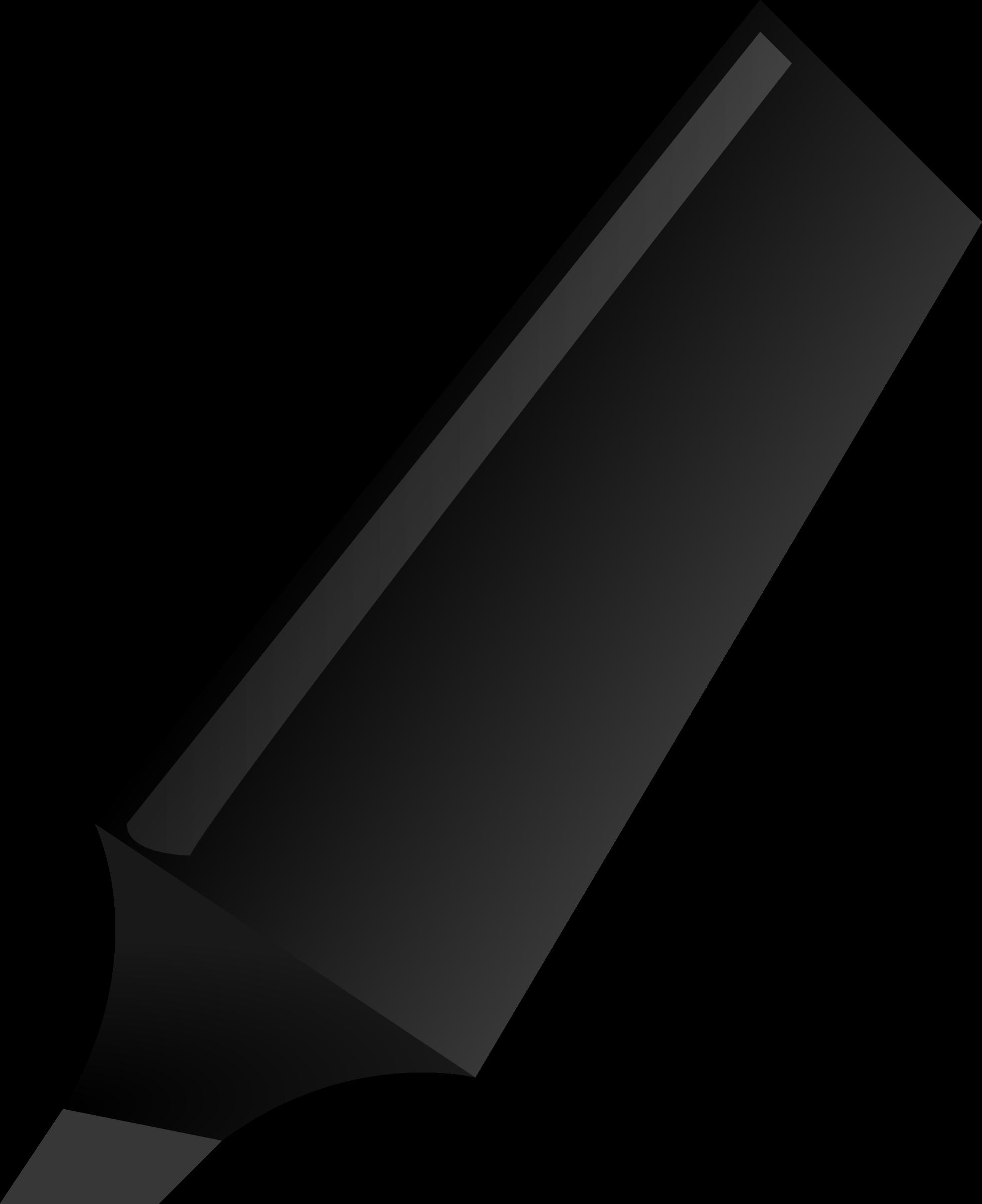 Markers clipart highlighter. Black big image png