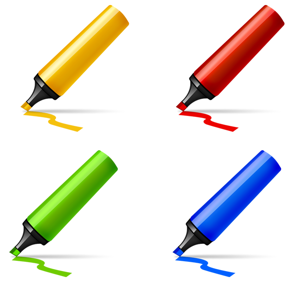 Marker pen icon psd. Markers clipart highlighter