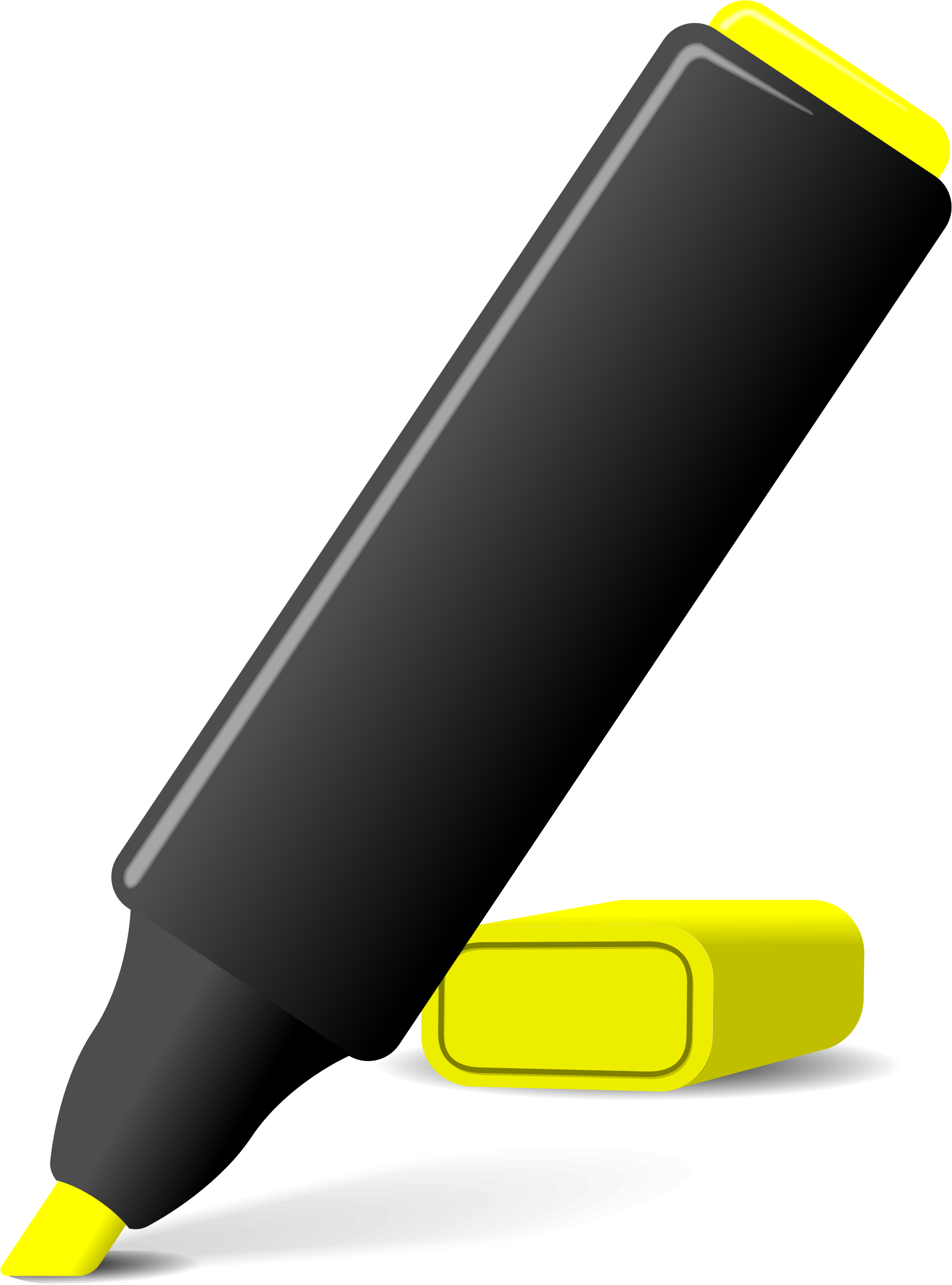 Highlighter pen big image. Markers clipart dry erase marker