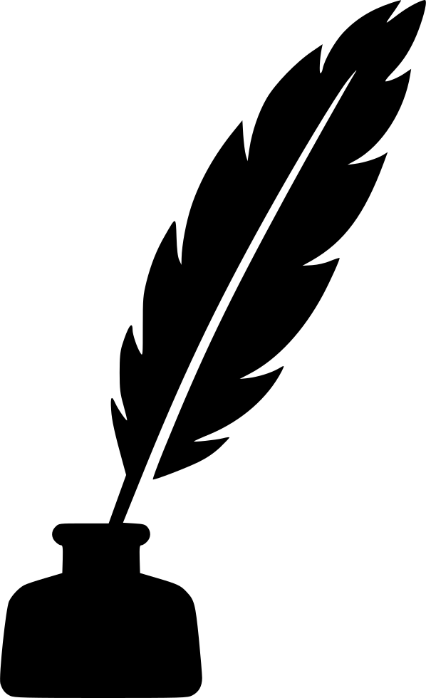Feather ink pen png. Feathers clipart svg