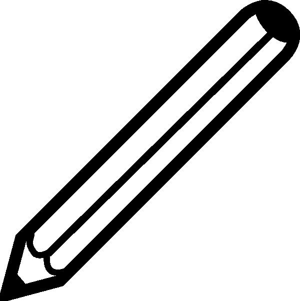 Pencil clipart silhouette. Pen black and white