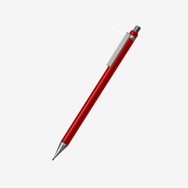 Clipart pen mechanical pencil. Red a automatic png