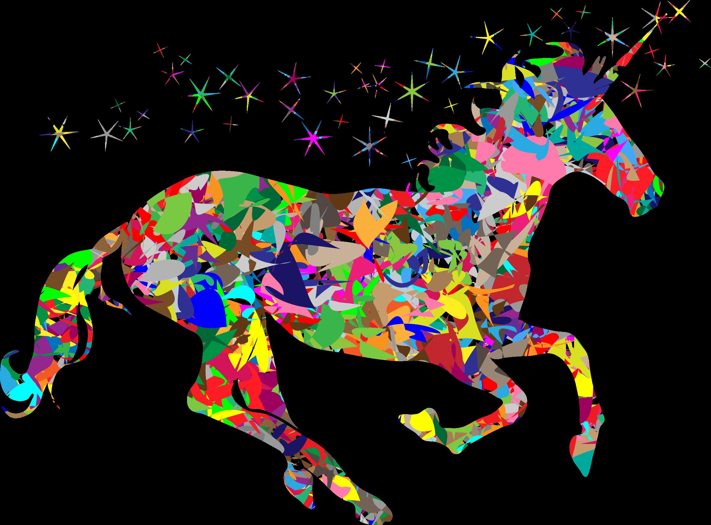 Modern art magical unicorn. Wet clipart dirty child
