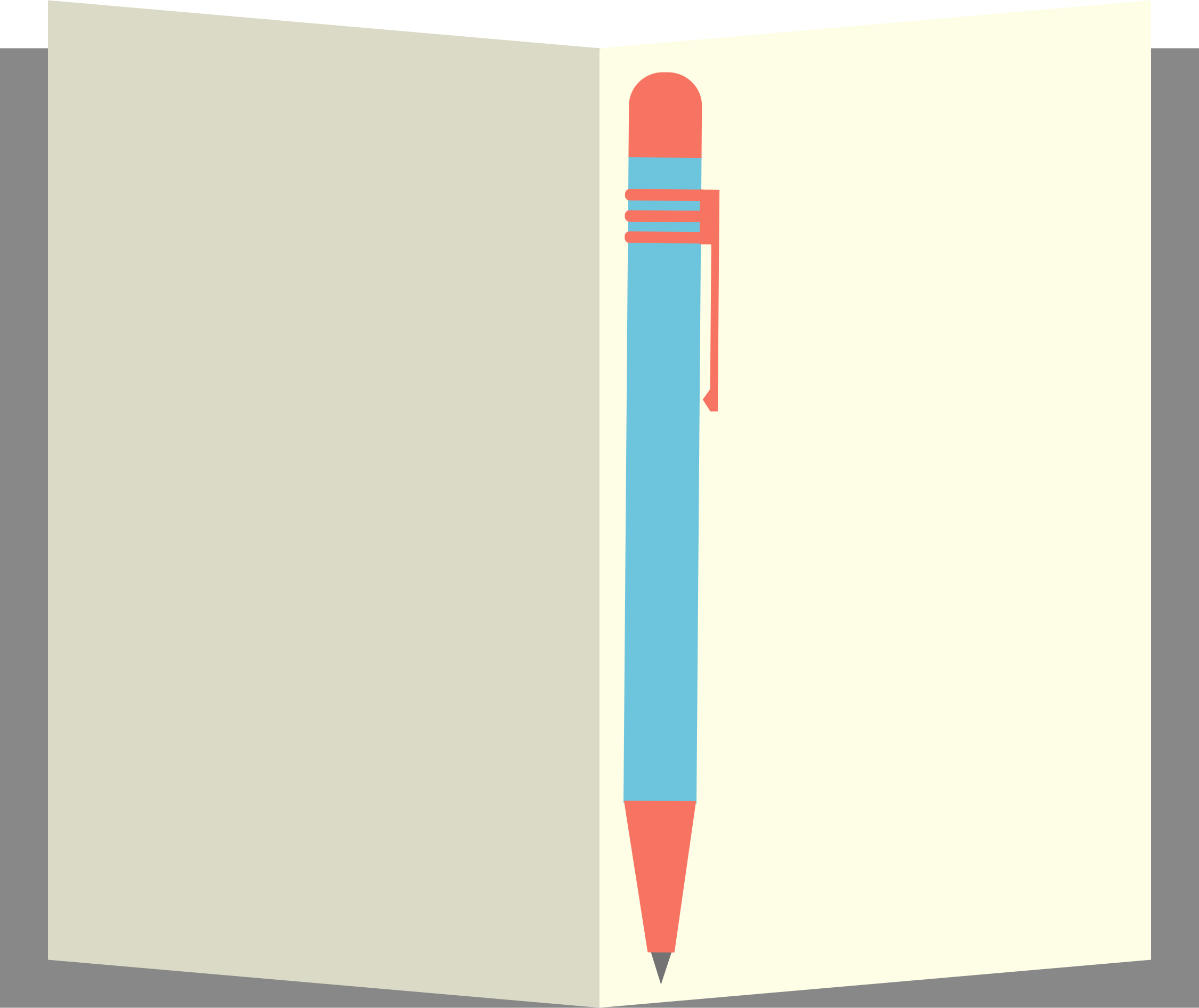 Notebook clipart notebook pen. Notepad big image png