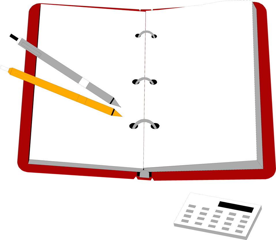 Notepad free stock photo. Notebook clipart notebook pen