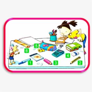 Classroom school objects . Pen clipart object