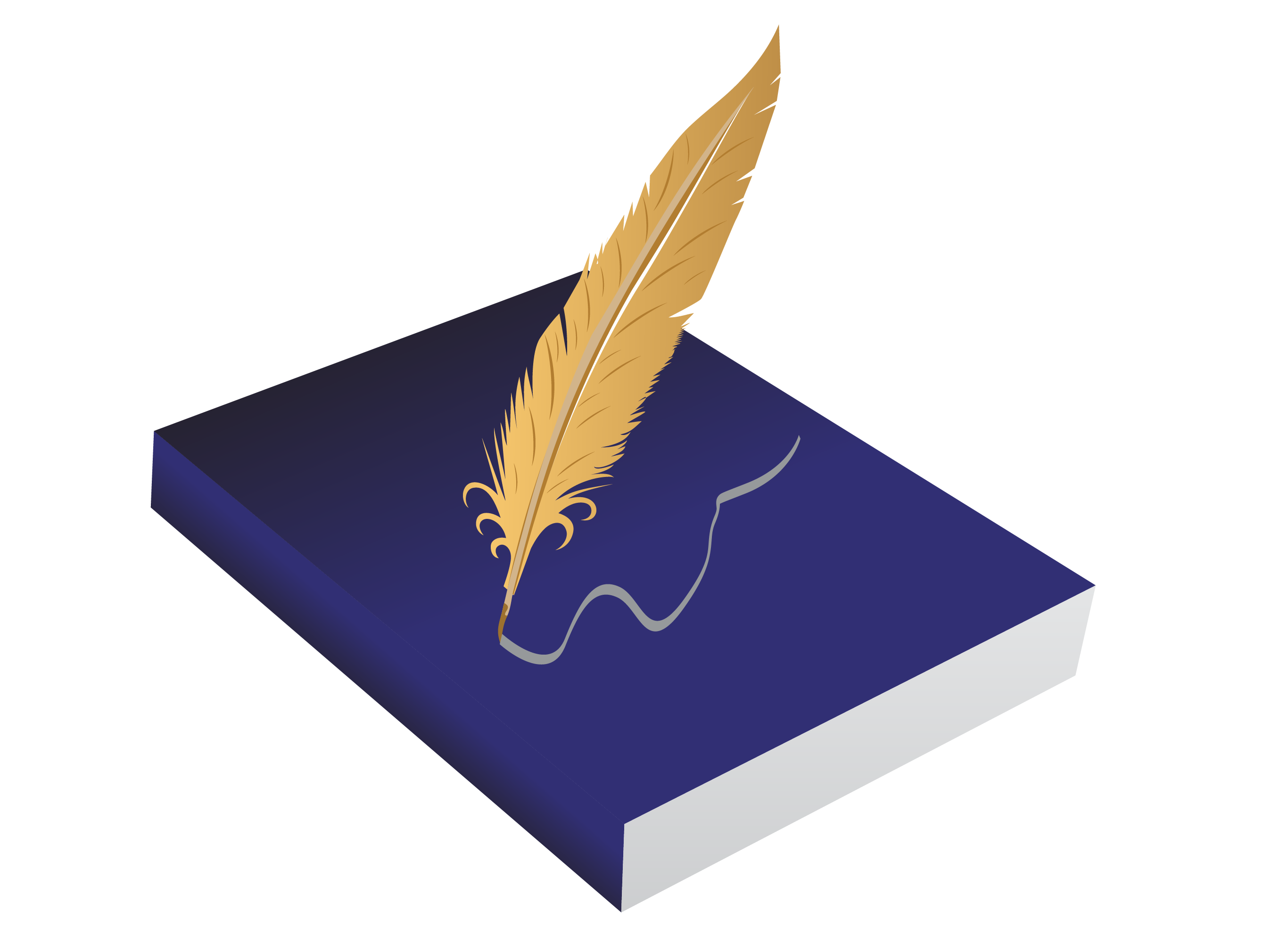 Drawing clip art book. Feather clipart quill