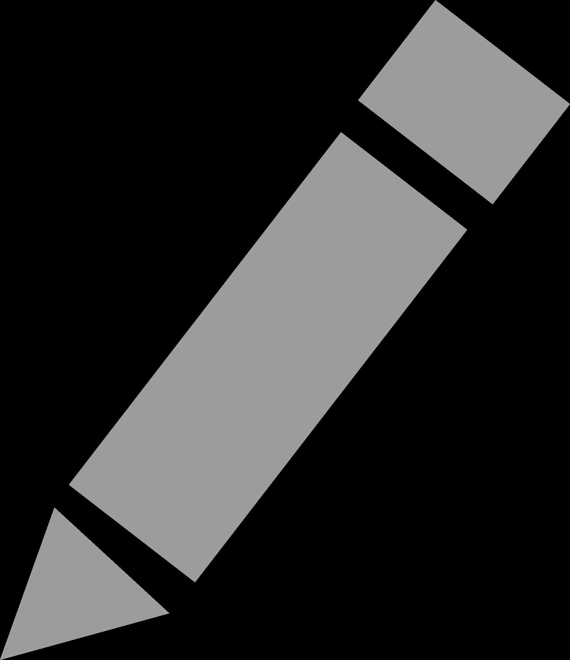 Grey small pencil icon. Pencils clipart simple
