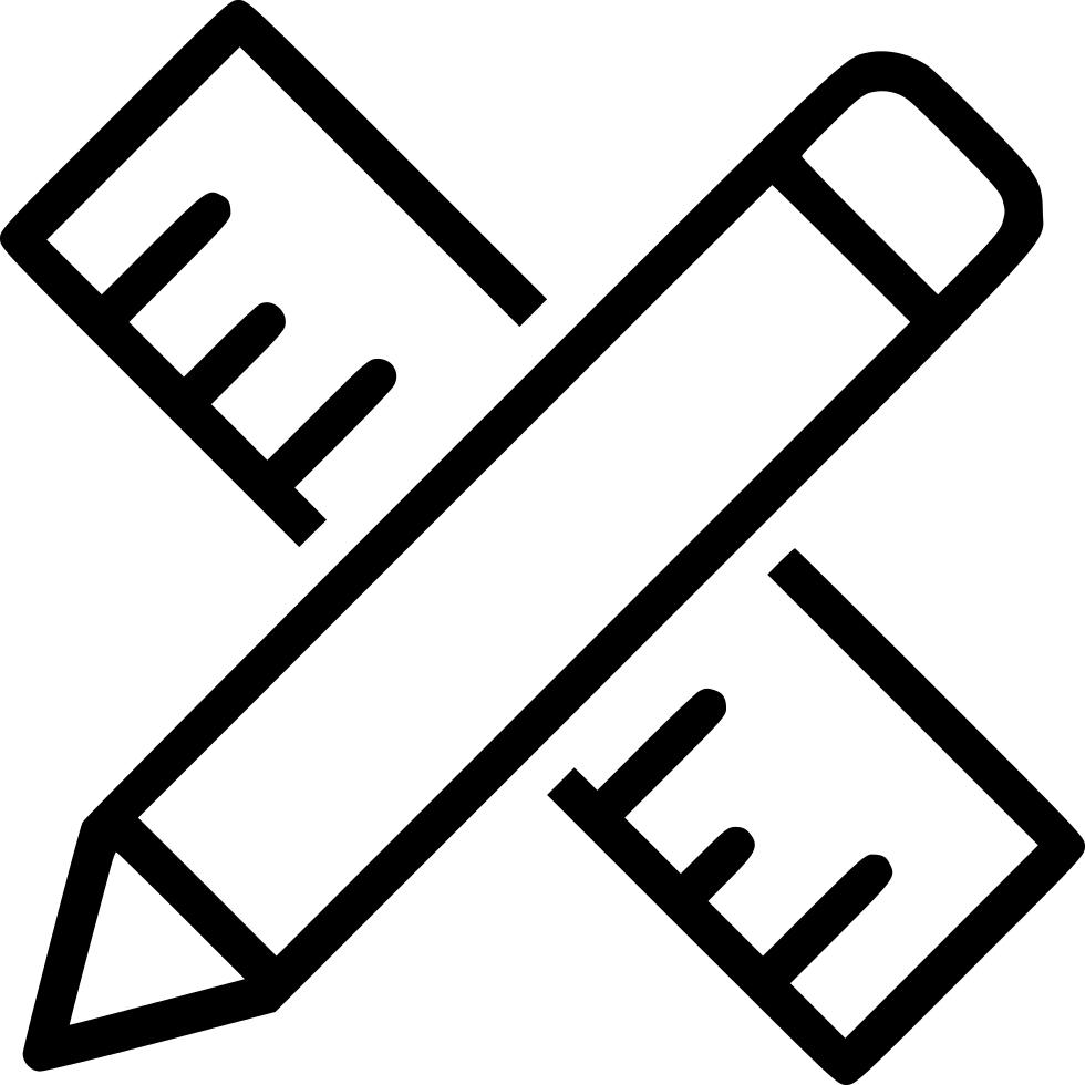 Supplies pen pencil svg. Clipart ruler resource