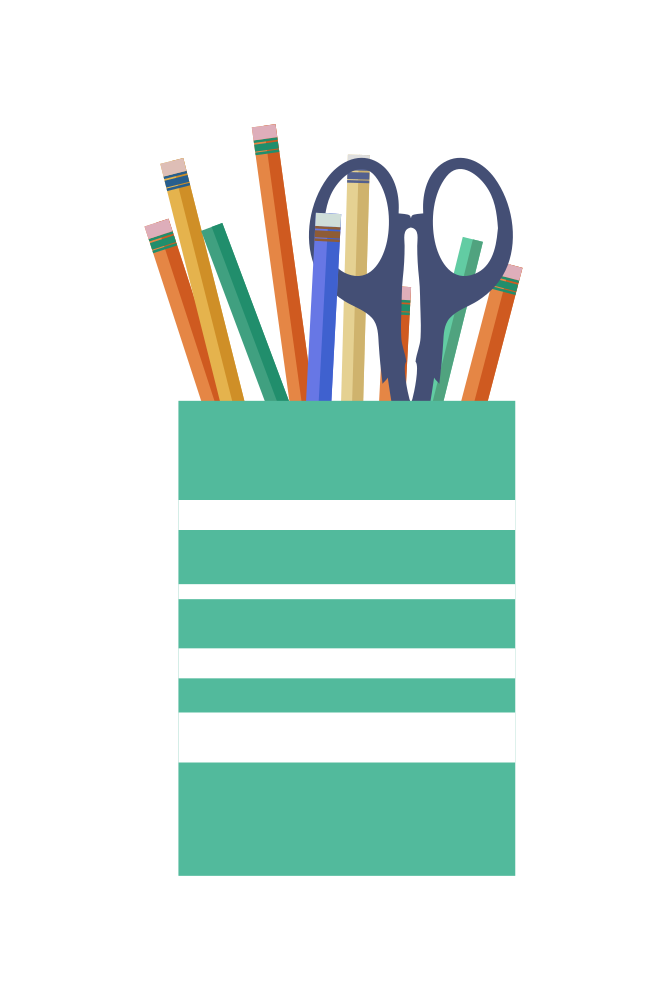 Crafts clipart pencil cup. Onlinelabels clip art office