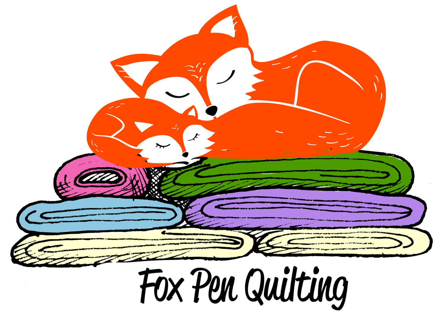 Classes and events fox. Quilting clipart fabric store