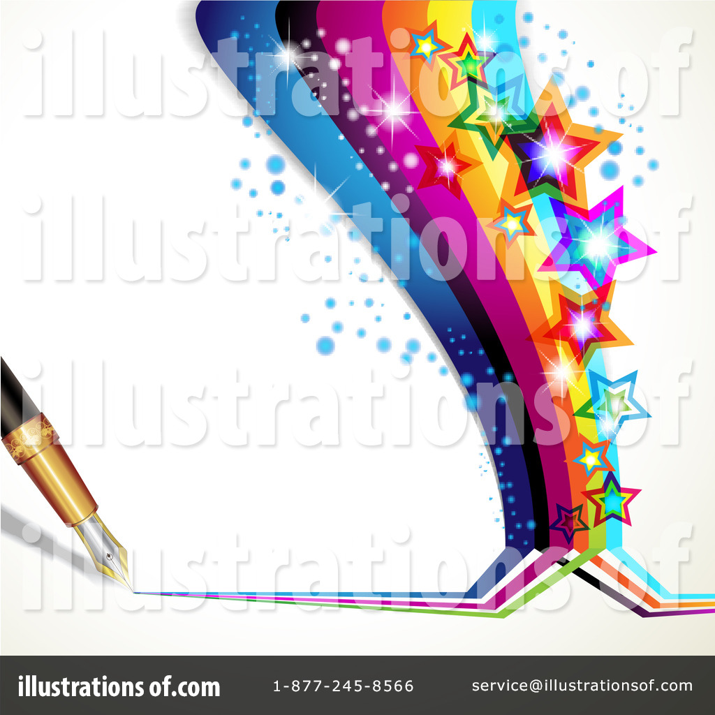 Clipart rainbow pen. Background illustration by merlinul