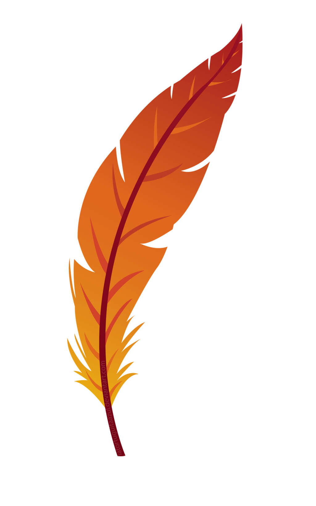 By pumpkinquartz on deviantart. Feather clipart logo