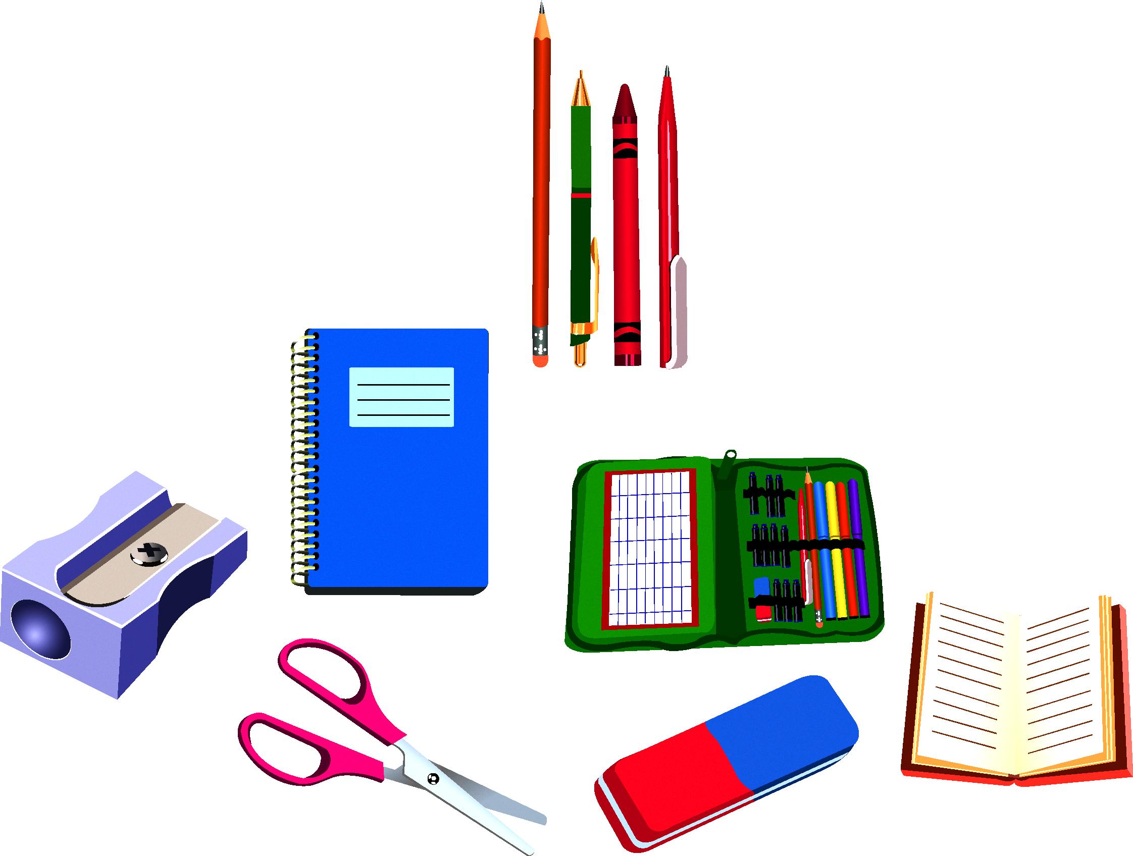 School supplies drawing clip. Schedule clipart teacher tools