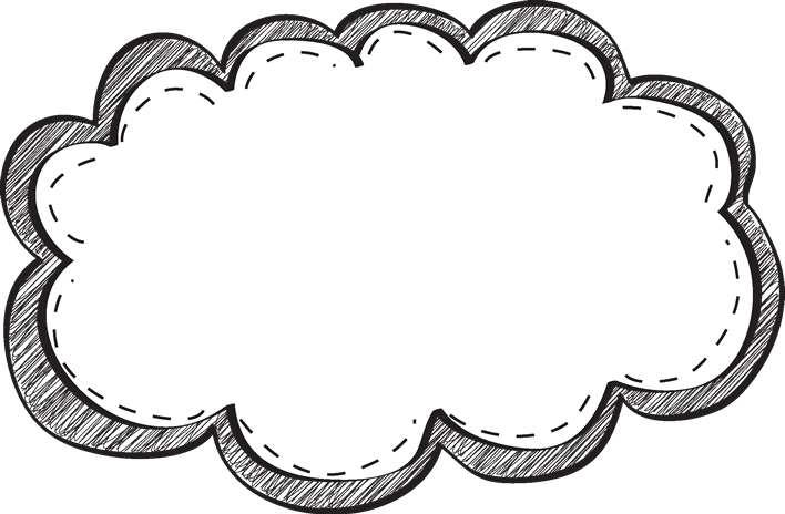 Napkin clipart black and white. Scribble border clip art