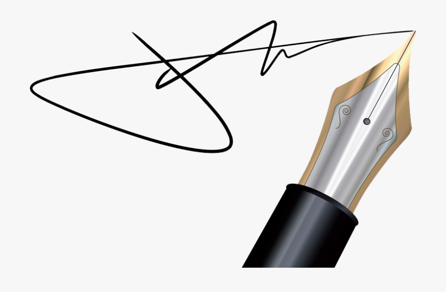 And png . Clipart pen signature pen