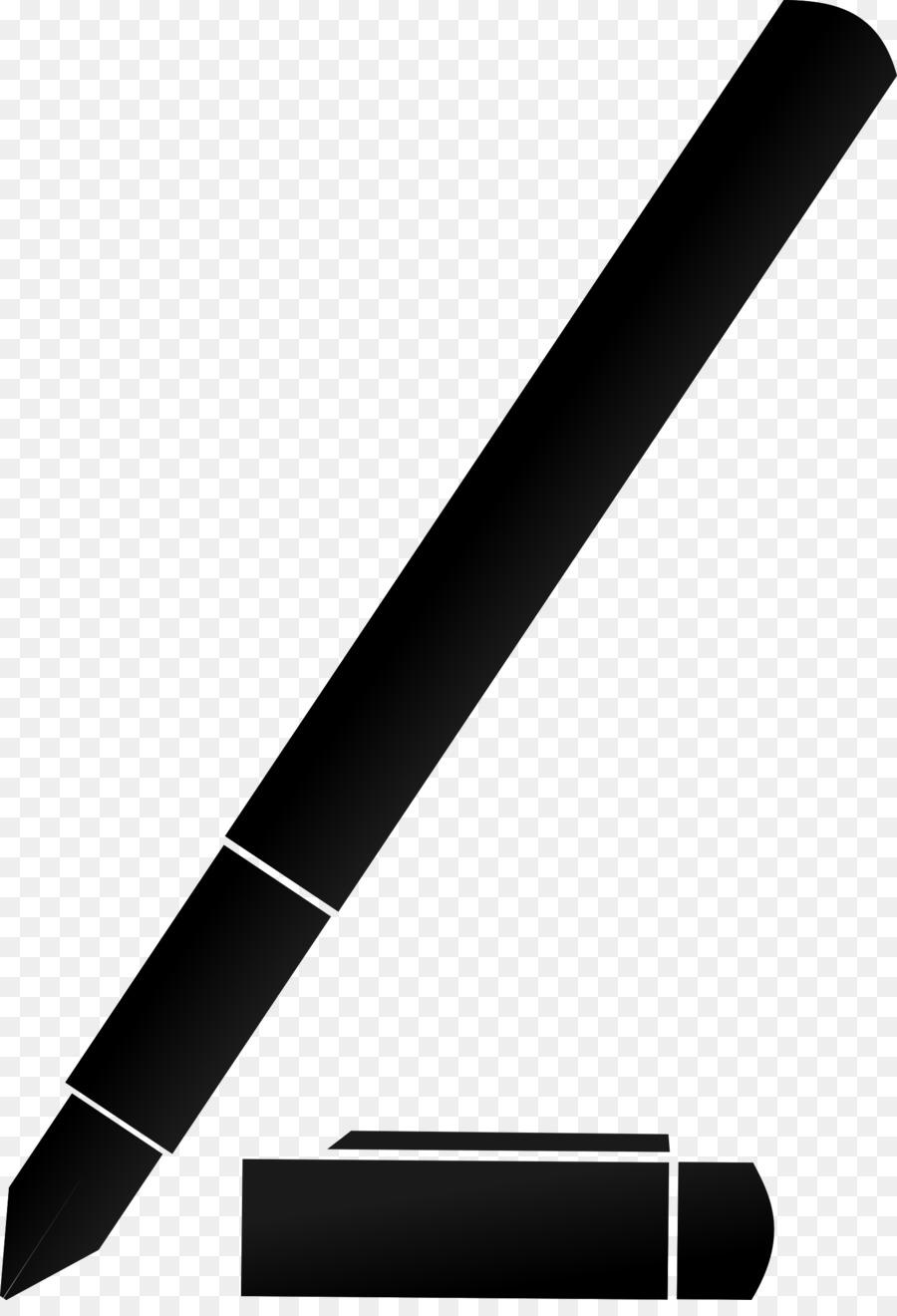 Pencil cartoon paper . Clipart pen silhouette