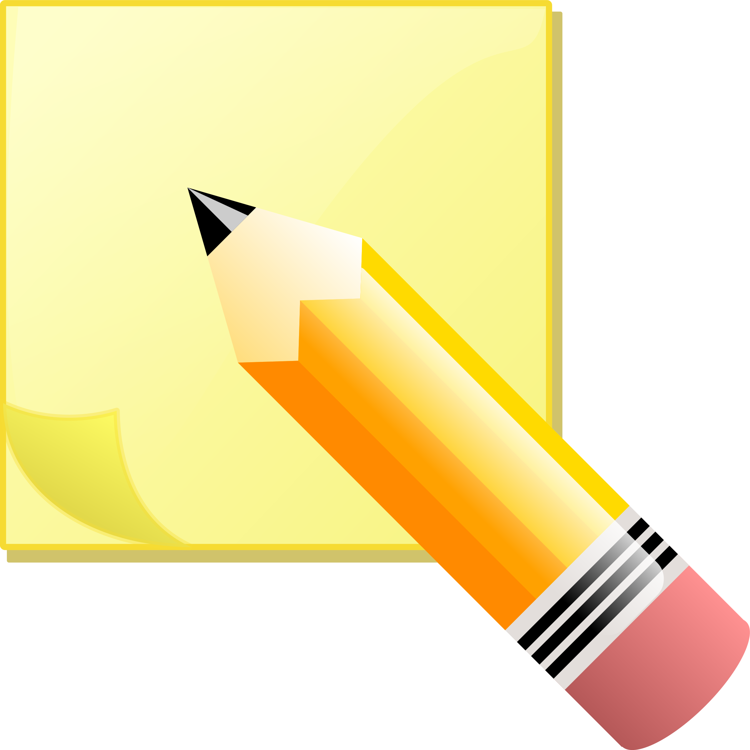 Kid clipart pencil. Sticky note pad and
