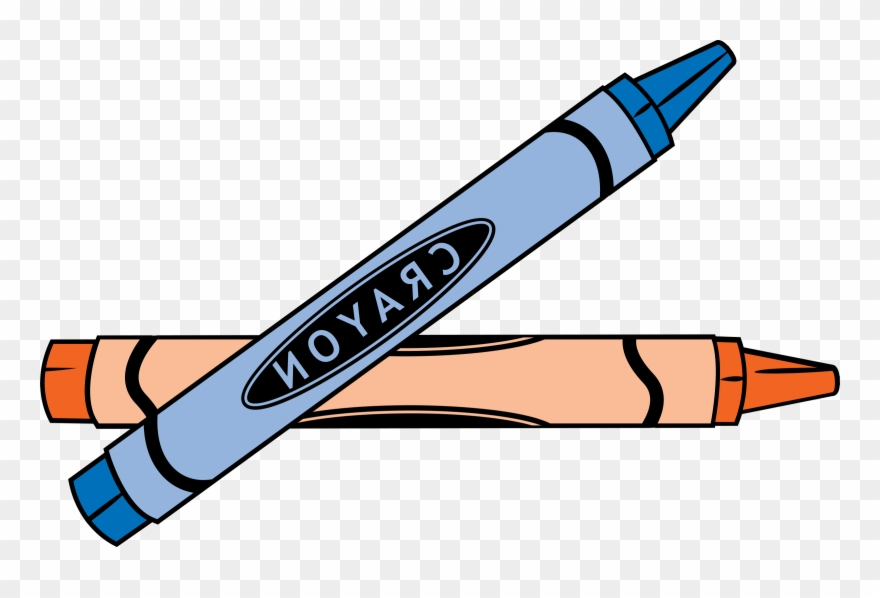Crayon clipart two. Of implement and pen