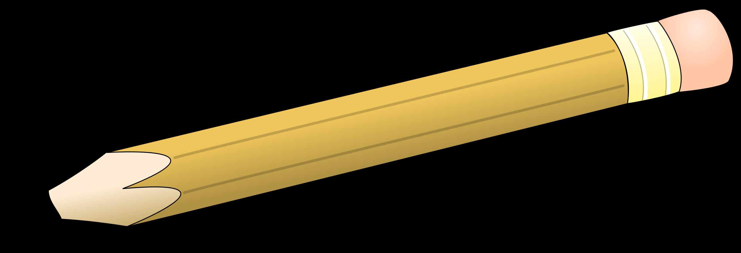 Pencils clipart simple. Pen pencil big image