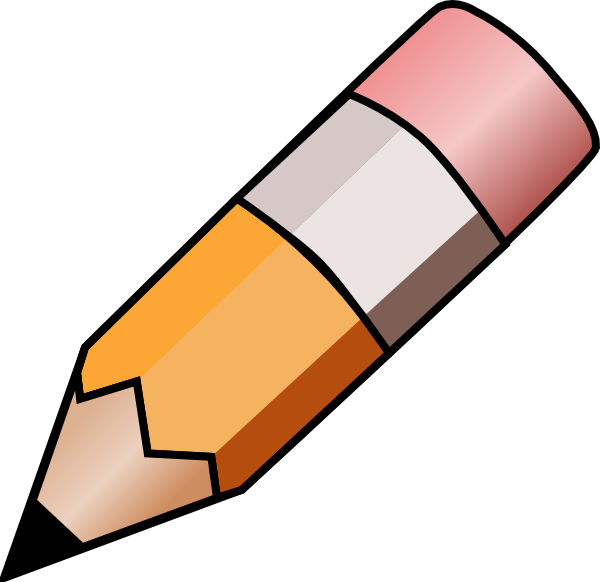 Pencil clipart. Image of writing clip