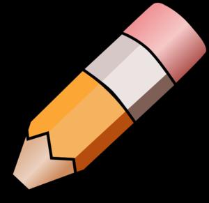 Pencil clip art at. Handwriting clipart crayon