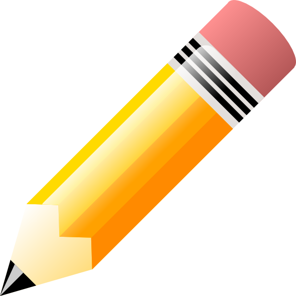 Yellow . Pencil clipart