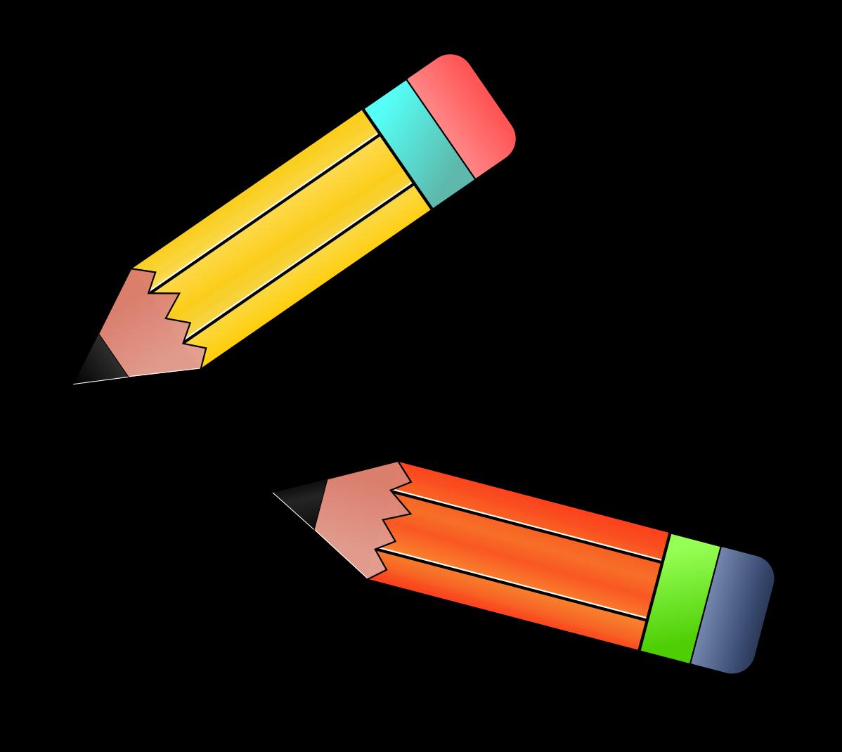 Pencils clipart simple. Pencil drawing clip art