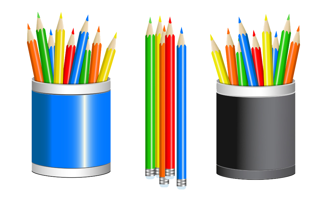 Colored cup drawing clip. Clipart pencil art supply