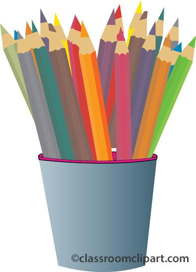 colored pencils clipartlook. Pencil clipart art supply
