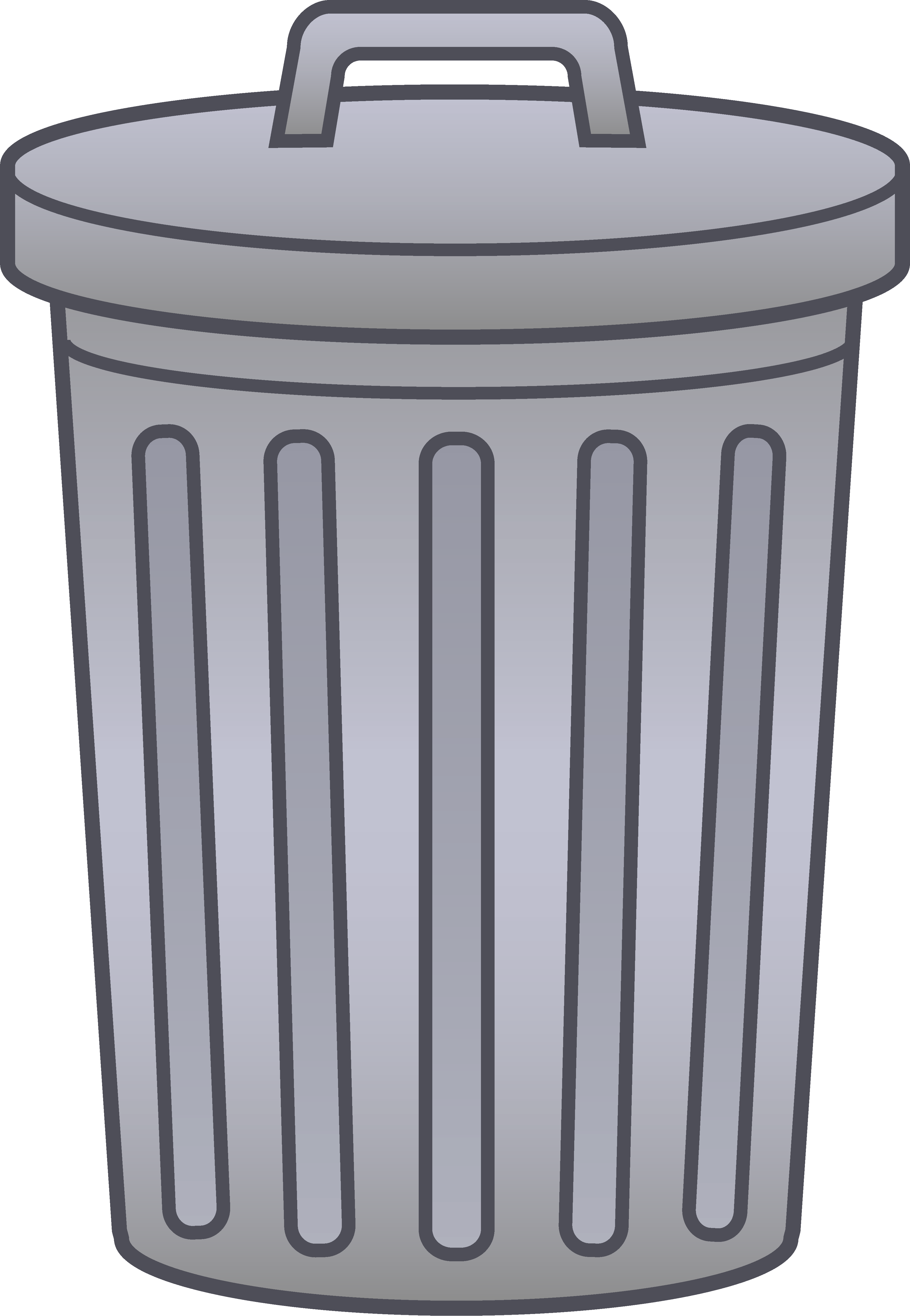 collection of trash. Pencil clipart bin
