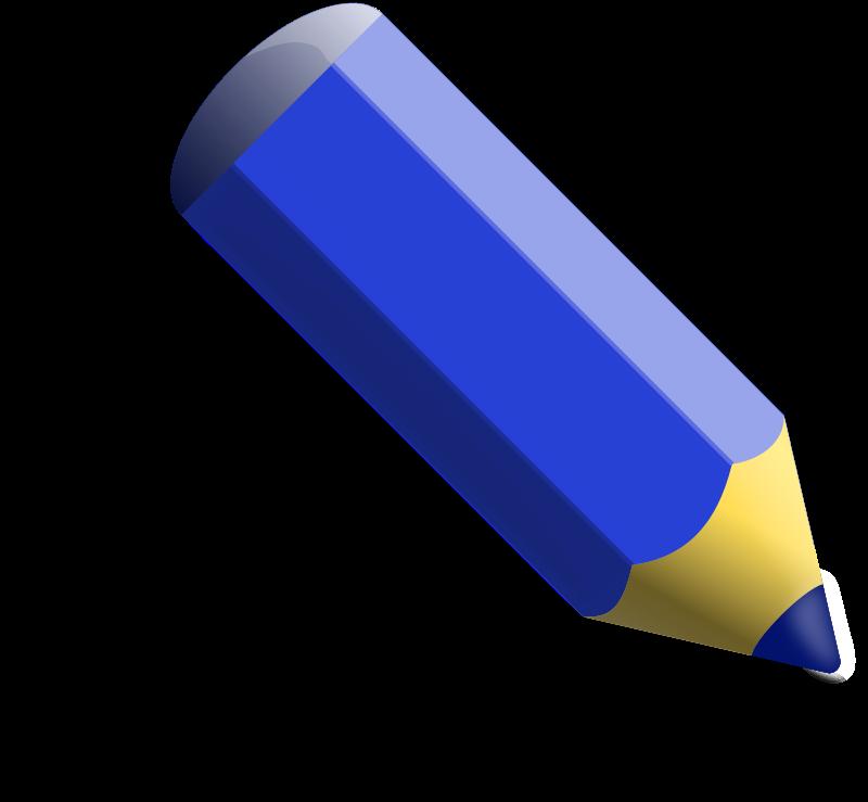 Clipart pencil blue. Medium image png