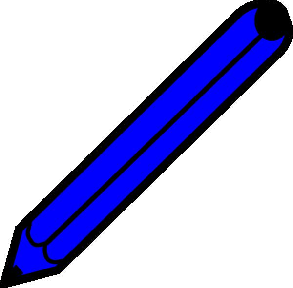 Clip art at clker. Clipart pencil blue