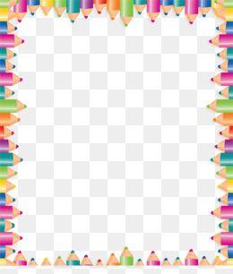 Clipart pencil boarder. Color border frame colored