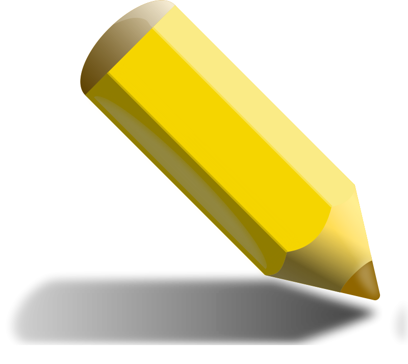 Sunny clipart object. Free yellow pencil objects