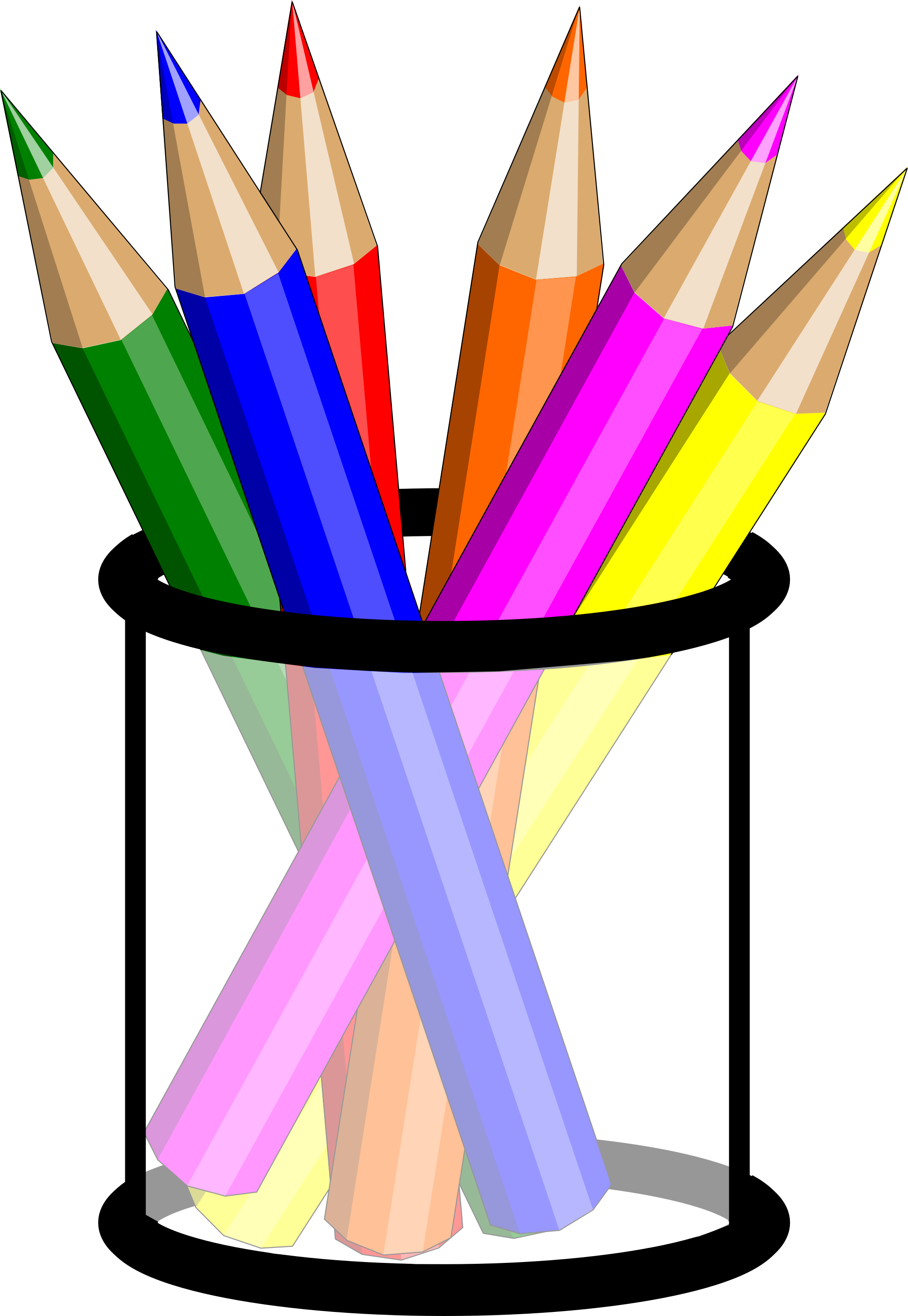 Adult colouring books sally. Pencils clipart fence