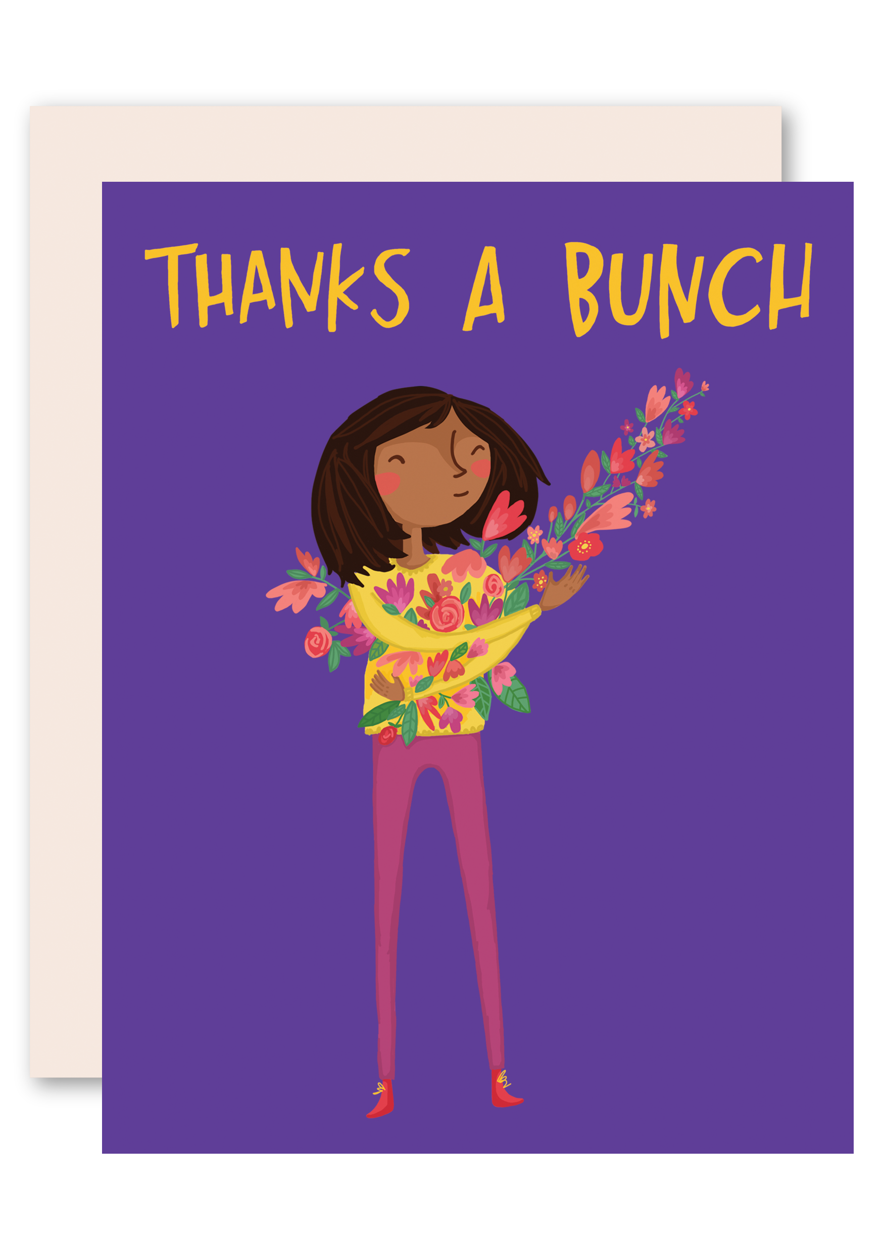 Thanks a bunch card. Mother clipart thank you