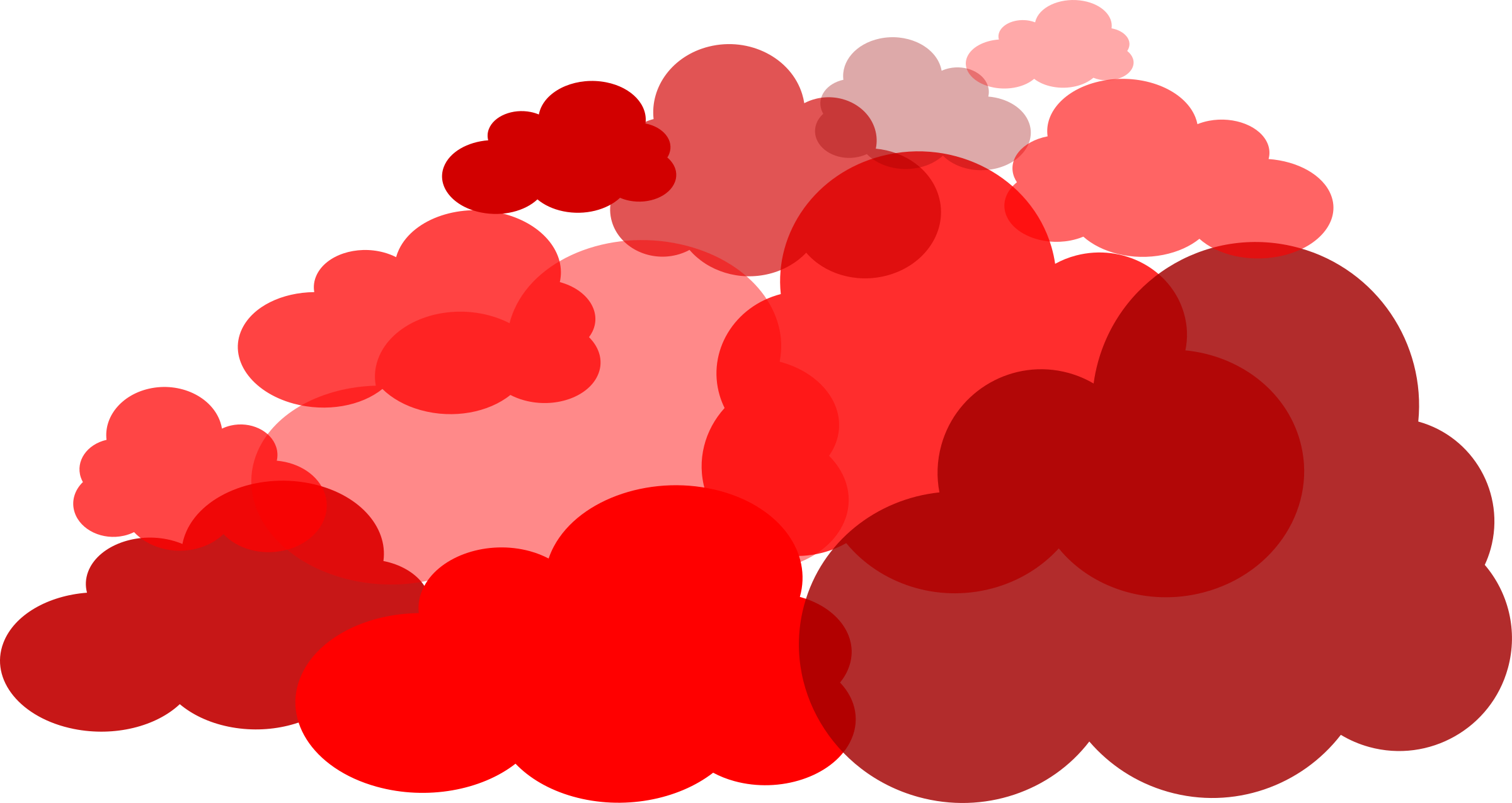 Red pencil and in. Clouds clipart dream