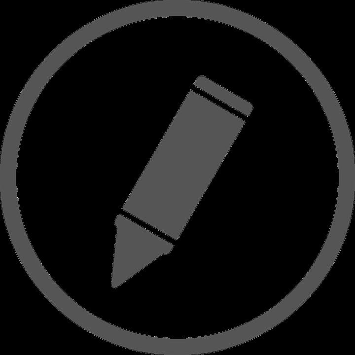 Clipart pencil circle. Cliparts white shop of