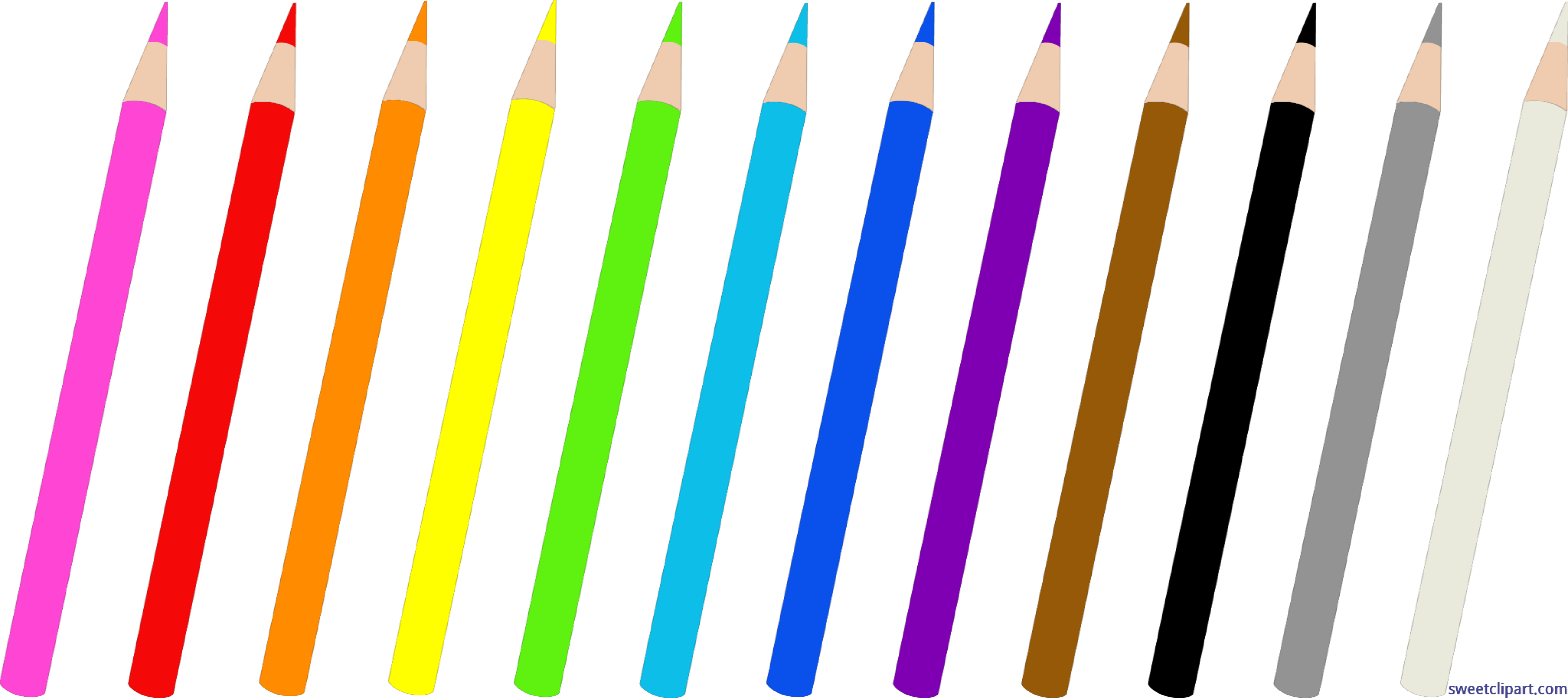 Clipart pencil colored pencil. Pencils set of clip