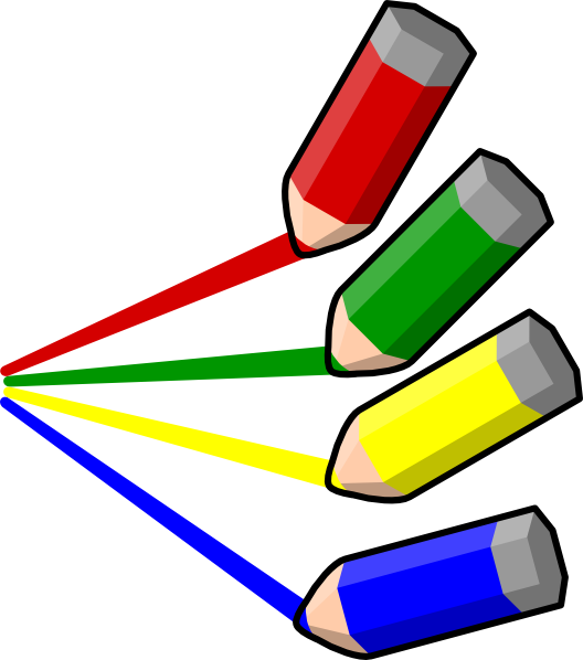 Color stripes clip art. Clipart pencil colored pencil